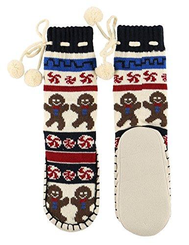 Lazyone Mukluk Tøffel Sokker For Kvinner L Familie Matchende Julen Pyjamas (small / Medium, Søte Kinn)