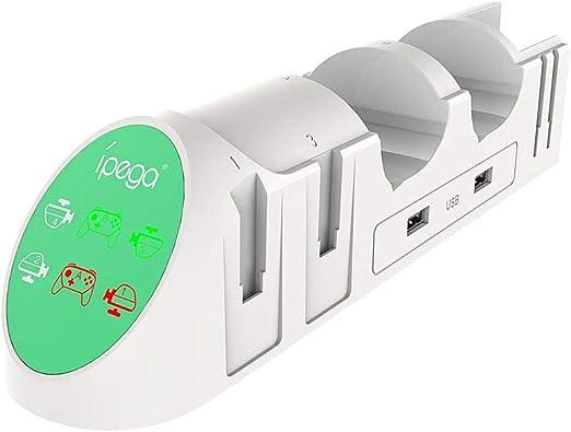 Negaor PG-9187 6 in 1充電ドックスタンドベースチャージャースタンドNintend Switch Proホワイト用