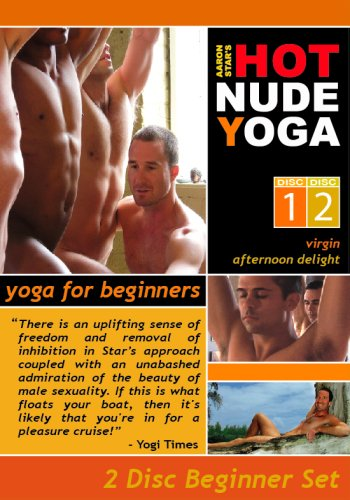 Yoga for Beginners 2 DVD Hot Nude Yoga Set For Straight & Gay Men - Newbies Welcome