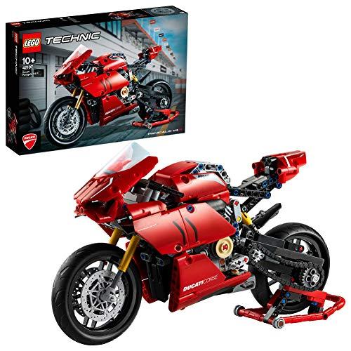 LEGO42107TechnicDucatiPanigaleV4RMotocicleta ModelodeExposiciónColeccionableMotoSuperbikeSet de Construcción