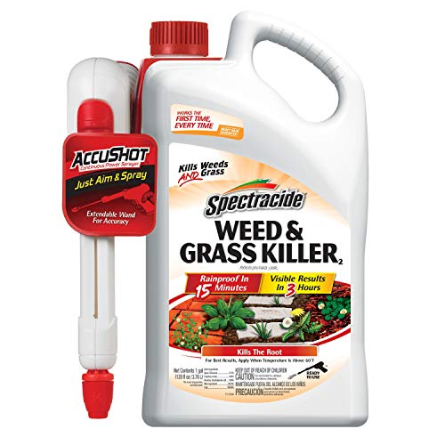 Spectracide Weed & Grass Killer2, AccuShot Sprayer, 1.33-Gallon, 4-Pack