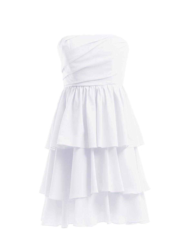 Dresstells Damen Brautjungfernkleid Knielang Sommer DT90063