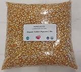 Yellow Popcorn Seeds 2 lbs (two pounds) Kernels, USDA Certified Organic, Non-GMO, BULK.