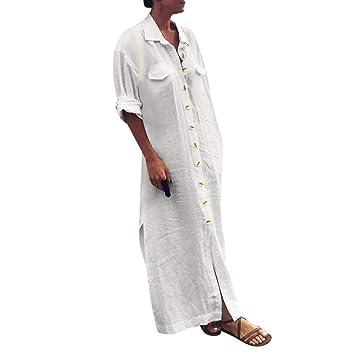 Vestidos Casual Camisas SUNNSEAN Mujeres Trajes de Vestir ...