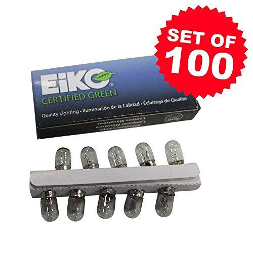 Eiko Set of 100#47 Pinball Light Bulb Lamps - 6.3V