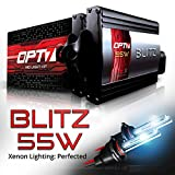 xenon 8000 for impala 2006 - OPT7 Blitz 55w H11 H8 H9 HID Kit 5x Brighter - 4x Longer Life - All Bulb Colors and Sizes - 2 Yr Warranty [8000K Ice Blue Xenon Light]