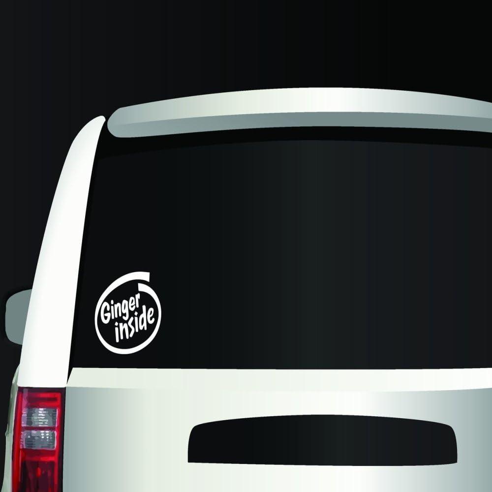 NicE USA GINGER Inside Redhead Red Hair Intel Decal Sticker Car Window White-