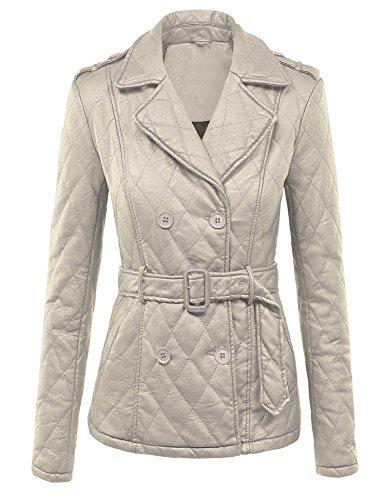 Leather Belted Coat - 1