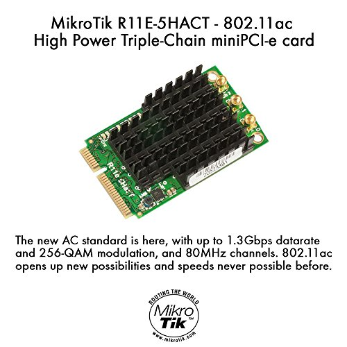 MikroTik R11e-5HacT - 802.11ac High Power Triple-Chain miniPCI-e card by Mikrotik