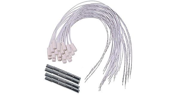 UHPPOTE Oculta Montado Magn/ético Ventana Contacto de Puerta Interruptor de Sensor Detector de Cable Paquete de 5