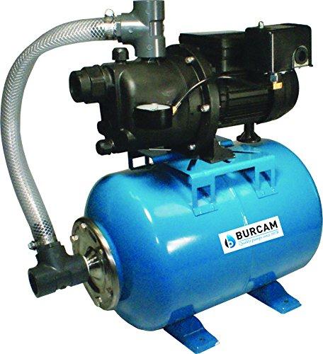 BURCAM 506227P 3/4 Hp Noryl Shallow Well Jet Pump C/W 7Gal Pressure Tank by Bur-Cam