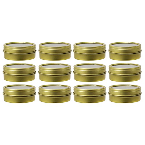 Gold Metal Steel Tin Flat Containers with Tight Sealed Cl...