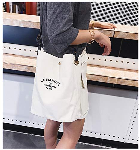 Bag Canvas Shoulder Casual Brown Women's Shopping Work ZIIPOR Crossbody Bag Hobo Bag qHgtI5
