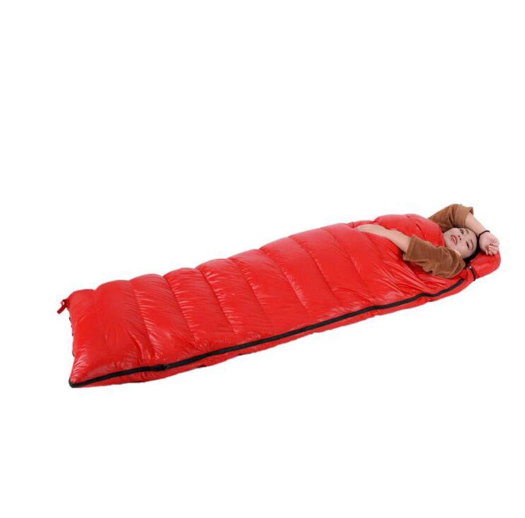JBHURF Winter Daunenschlafsack Outdoor Camping Tragbarer Schlafsack Geeignet für Wandern (Kapazität   1.6kg, Farbe   rot) B07KJG5PPL Schlafscke Günstigen Preis