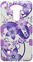 Asmyna Cell Phone Case for LG K520 (Stylus 2) - Purple Hibiscus Flower Romance/Electric Purple