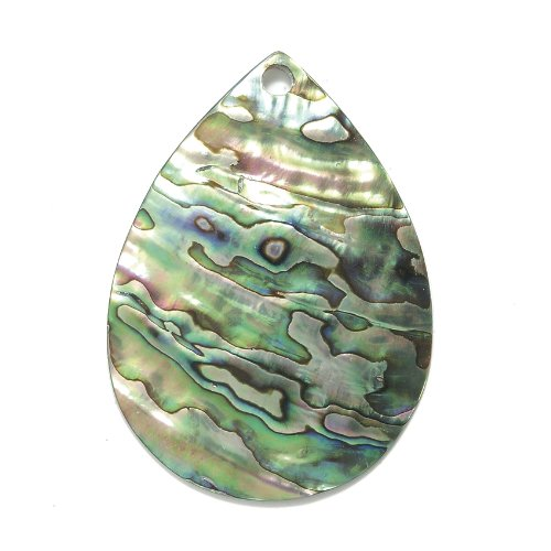 Abalone Iris (Shipwreck Beads Abalone Large Tear Drop Pendant, 60 by 45-mm Average)