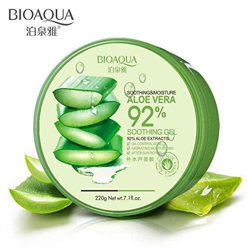 KINWAT Natural Aloe Vera Smoothing Gel Acne Treatment, After Moisturizing Repair After Sun Massage 220g