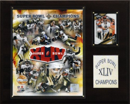 - NFL Saints Super Bowl XLIV Limited Edition Champions Plaque