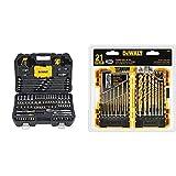 DEWALT Mechanics Tools Kit and Socket Set, 142-Piece (DWMT73802) & Titanium Drill Bit Set, Pilot Point, 21-Piece (DW1361)