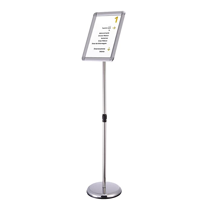 Amazoncom Silver A4 Free Standing Snap Frame Poster Holder Floor