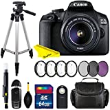 Canon EOS 1500D/Rebel T7 DSLR Camera with EF-S 18-55mm f/3.5-5.6 IS II Lens + Buzz Pro Bundle (International Version)