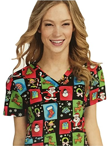 Med Couture womens print scrub