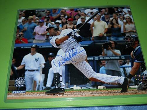Derek Jeter 3000th Hit Autographed Signed Horizontal 8x10 Baseball Photo Steiner Sports Coa - Authentic Memorabilia