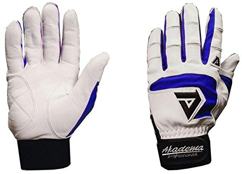 Akadema Professional Batting Gloves (White/Royal, XX-Large)