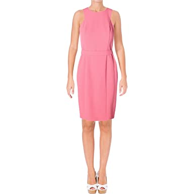 51471315265c Hugo Boss BOSS Womens Dalanea Textured Sleeveless Wear to Work Dress ...
