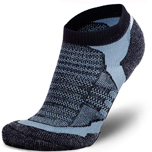 No-Show Wool Running Socks - Ultra-Light Merino Wool Athletic Socks, Trail Socks ()