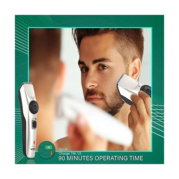VGR V-031 Hair Trimmer Professional Cord & Cordless Hair Clipper for men-multicolor 2021 August Sales Package: 1 Hair Trimmer, 2 Guide Comb, 1 Lubricating Oil, 1 Cleaning Brush, 1 USB Cable, 1 User Manual Suitable For: Hair Clipping, Beard & Moustache, Body Grooming Features: Adjustable Trimming Range, Rechargeable, Easy to Clean, Detachable Head, Non-Allergic