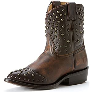 FRYE Women's Billy Studded Short Boot, Maple Calf Shine Vintage, 7 M US
