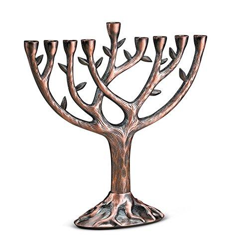 Hanukkah Tree of Life Menorah, Textured -