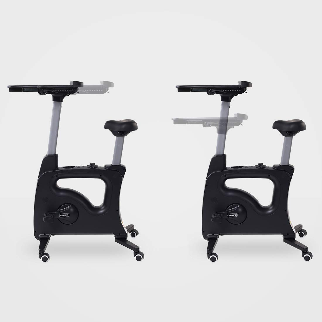 FLEXISPOT Home Office Upright Stationary Fitness Exercise Cycling Bike Height Adjustable Standing Desk - Deskcise Pro Black by FLEXISPOT (Image #4)