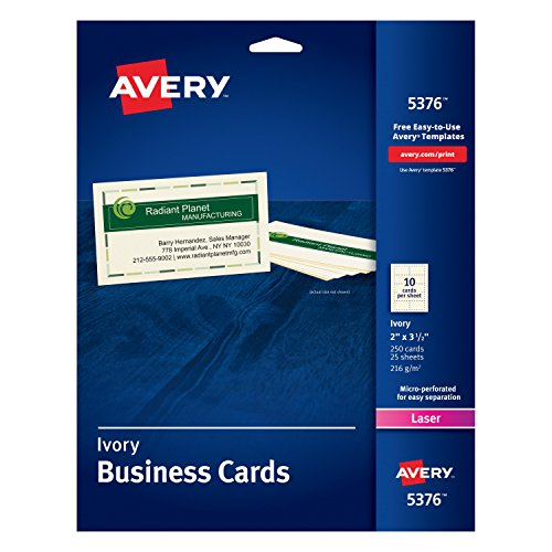 Business Cards For Laser Printers Ivory Uncoated Pack