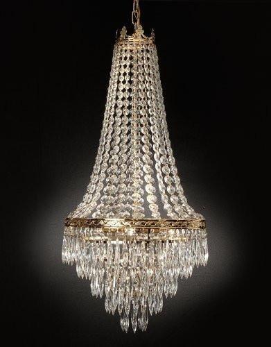 French Empire Crystal Chandelier Lighting Empress Crystal Tm H30 X W17