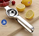 Lemon Squeezer Convenient design Stainless steel press lemon lime orange juicer, Anti-corrosive, Heavy Duty Easy to Use Manual Citrus Press, High quality, Color silver