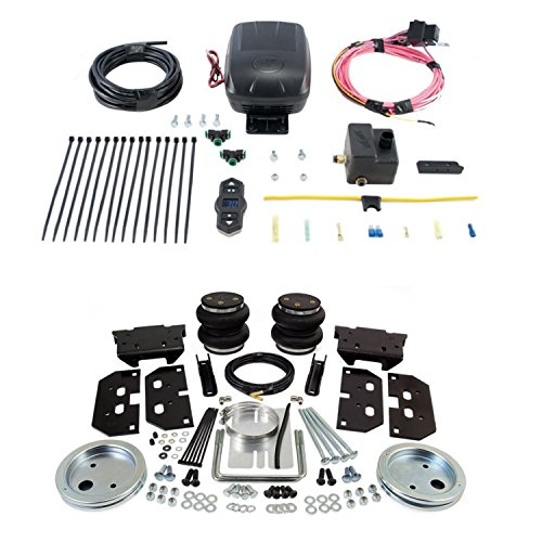 Air Lift 57297/25870 Rear Set of Load Lifter 5000 Series Air Springs w/Wireless One Single Path On-Board Air Compressor System Bundle for Dodge/Ram