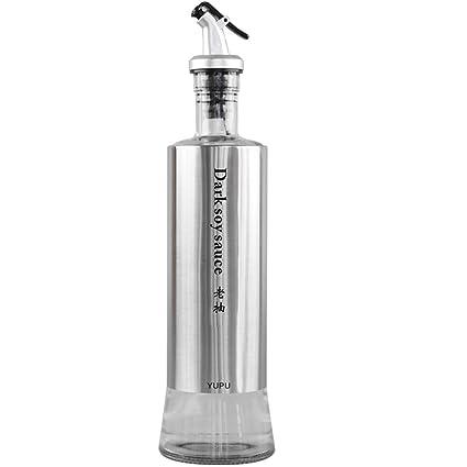 Botella de condimento/Botella de Aceite de Vidrio Depósito de lubricante a