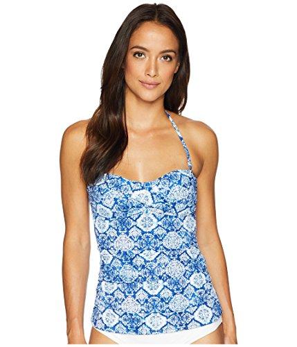 Lauren Ralph Lauren Women's Aegean Tile Twist Tubini Top Blue 4