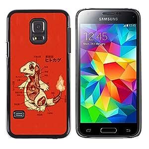 EJOY---Cubierta de la caja de protección la piel dura para el / Samsung Galaxy S5 Mini, SM-G800 / --Charizo P0kemon