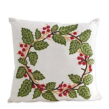 Amazon.com: 18 inch cuadrado lino funda de almohada con ...