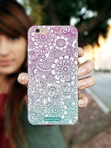 Inspired Cases 3D Textured Flower Zentangle Pattern Case for iPhone 5 & 5s