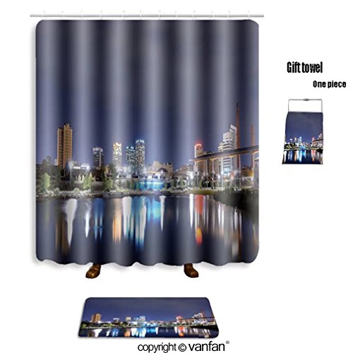 vanfan bath sets with Polyester rugs and shower curtain skyline of birmingham alabama from railroad p shower curtains sets bathroom 69 x 75 inches&31.5 x 19.7 inches(Free 1 towel and - Alabama Outlets Birmingham In