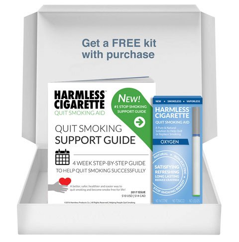 New / Harmless Cigarette / Quit Smoking Kit / Therapeutic Quit Smoking Aid to Help Reduce Cravings / Satisfying & Effective Stop Smoking Remedy (Starter Kit, 1 Pack, Oxygen, (Stop Smoking Kit)