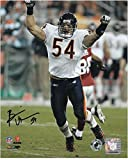 Brian Urlacher Chicago Bears Autographed 8' x 10' Arms Up Photograph - Fanatics Authentic Certified - Autographed NFL Photos