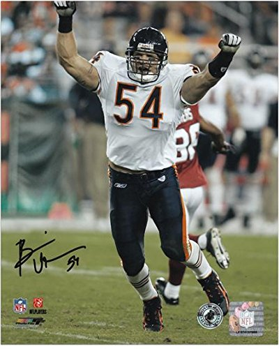 Brian Urlacher Chicago Bears Autographed 8