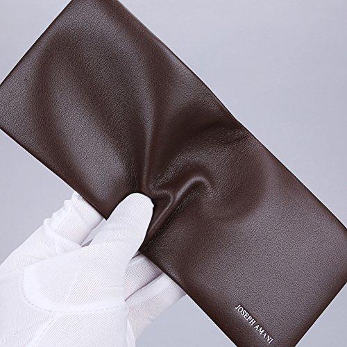Cuero de Elegante Capacidad Plegable Carteras Ventana Bloqueo tarjeta Caso Business C 12x10cm Rfid la Extra Carteras 5x4inch F qx05CFU5w