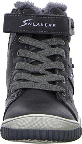 Sneakers 55.451 Kinderschuh Jungen Mädchen Unisex Winterboots Stiefelette Warmfutter Reißverschluss Klettverschluss Farbe: Braun