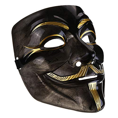 IDOXE V for Vendetta Mask mask White Guy Fawkes Anonymous Halloween Party Masker Dress Fancy Cosplay ()
